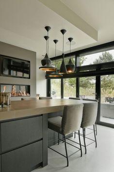 luxe woonkeuken modern keukenontwerpkeukeneetkamereetkamerkeuken stylingkeuken interieurinterieurontwerp