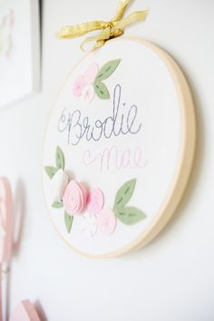 Project Nursery - Personalized Embroidery Hoop Art