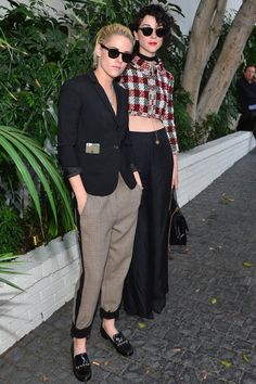 Kristen Stewart and Girlfriend St. Vincent Look Too-Cool-For-School at a Vogue Event