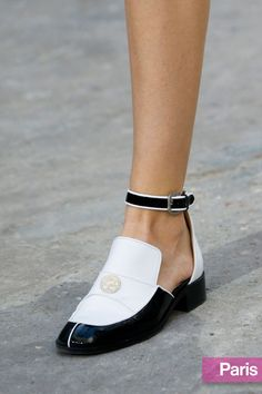 Chanel spring 2015 ankle-strap loafers