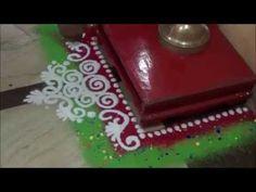Learn rangoli : Puja rangoli Simple rangoli design Rangoli Art - YouTube