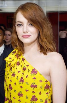 Image result for emma stone gucci dress yellow