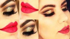 Christmas Makeup Tutorial - Maquiagem Dourada Natalina