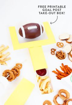 Quick And Easy DIY Football Party Ideas: DIY Goal Post Take-Out Box