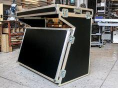 Flight case folding table, handmade by MLS - Music & Light Service