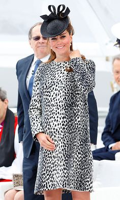 Spotted: Duchess Kate wore a dalmatian-printed dress by Hobbs for the Princess Cruise Ship ceremony.