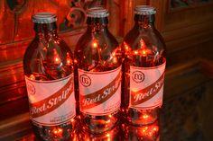 Items similar to Red Stripe Beer Bottle Light Jamaican Lager 3 Pack (Red or White lights) Bar Light, Red Stripe Lamp, Red Stripe Light, Red Stripe Bottle on Etsy Beer Bottle Lights, Sonoma County California, Pallet Bar, Bar Lighting, Bottle Crafts, White Light, Craft Gifts, Light Colors, Whiskey Bottle