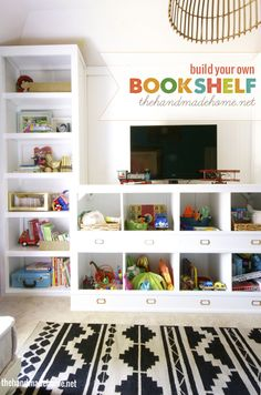 build your own bookshelf | the handmade home