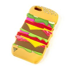 Katy Perry Hamburger Cover for iPhone 5, 5s and 5c at Claire's. @linhypants OMG, you NEED to own this...