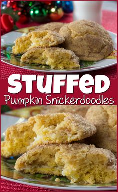 These Stuffed Pumpkin Snickerdoodles are soft and pillowy and feature lots of great cinnamon flavor with a creamy filling. Holiday Cookie Recipes, Holiday Cookies, Stuffed Pumpkin, Pumpkin Snickerdoodles, Christmas Cookie Exchange, Cream Cheese Filling, Brownie Bar, Food Festival, Cookie Bars