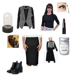 I Mostly Wear Black by peculiarleah on Polyvore featuring polyvore, fashion, style, Kosher Casual, Express, Luminess Air, NARS Cosmetics, Threshold, clothing, Modest and Tznius