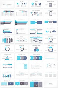 Multipurpose PowerPoint template with 36 pre-designed slides. The title slide featured a minimal abstract background with tiny light grey squares. This template is a good choice for business presentations, annual and financial report, etc. All shapes are editable in slide master view in PowerPoint.