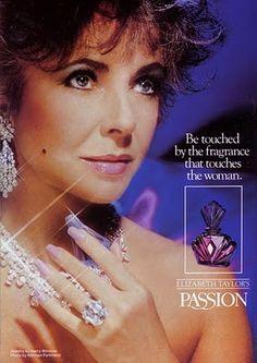 "Elizabeth Taylor ""Passion"" Perfume Print Ad"