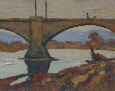 bridge in Dresden | 30x24cm  oil