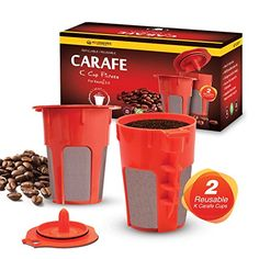 2 Refillable/Reusable Carafe KCup Filters by Housewares Solutions for Keurig 2.0: K200, K300, K400, K500 Series of Brewing Machines >>> Check out the image by visiting the link.