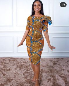 Ankara, Cold Shoulder Dress, African, Clothing, Wedding, Dresses, Fashion, Outfits, Valentines Day Weddings