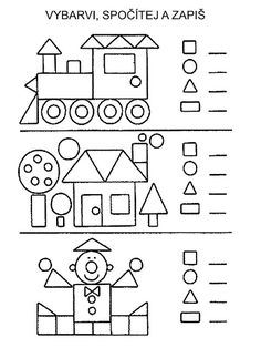 Coloring Page Home 2019 crafts worksheets coloringpage printable craftsforkids kindergarten preschool Kindergarten Math Worksheets, Preschool Learning, Teaching Math, Preschool Activities, Spanish Activities, Shapes Worksheets, 1st Grade Math, Math For Kids, Kids Education