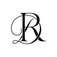 Wedding Initials, Monogram Wedding, Monogram Initials, Monogram Logo, Wedding Logo Design, Wedding Logos, Dr Logo, Two Letter Logo, R Tattoo