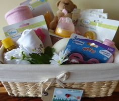 Beautiful Baby Girl Gift Basket Hamper Baby Shower New Baby Present Bubba Boo in Baby, Christening & Gifts, Gift Baskets | eBay