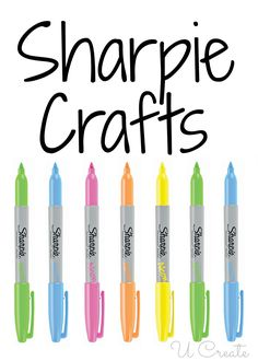 Many unique Sharpie crafts for home decor, simple gifts, kids crafts, etc.