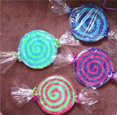 Candyland Birthday Party Decorations- Lollipop Props - Sweet shop theme. $5.10, via Etsy.