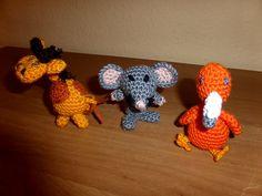 Giraffe,Maus,kleiner Paradiesvogel