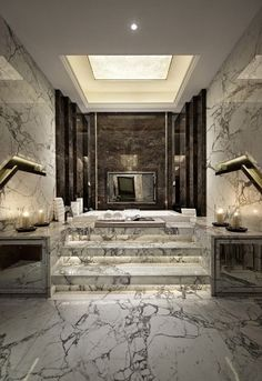 signed by tina: Marble Bathrooms....