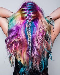 If you are making an attempt to search out a surprising candy hair color for your hair, you may provide an eye fixed fixed to the gathering we have got over here. Have a look! Hair Dye Colors, Cool Hair Color, Hair Color For Kids, Rainbow Hair Colors, Crazy Colour Hair Dye, Rainbow Dyed Hair, Rainbow Braids, Pretty Hairstyles, Braided Hairstyles