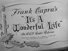 IT'S A WONDERFUL LIFE (1946) movie title  #Christmas #christmasmovies #typography