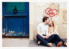 street art engagement photo. i love this the most out of any other engagement ideas ive seen :)
