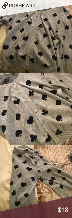 Fun rockabilly cardigan Great with spades and diamonds, playing card theme! Perfect for rockabilly comfy style! Sweaters Cardigans