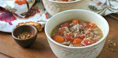 Italian Sausage and Cabbage Soup comes together fast and serves 6 -- use nitrate-free chicken or turkey Italian sausage, and saute in broth instead of oil for Phase 1 (use oil for Phase 3)