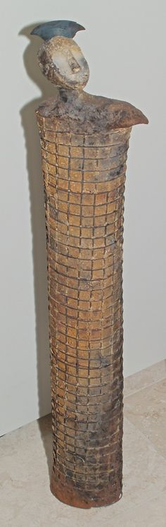 Figur mit Gitterdraht, 11 x 7 x 59 cm (BxTxH)