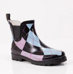Argyle Rain Bootie- I needed these today! :)