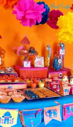 Party Ideas: A Colorful Indian Inspired Bollywood Bling Party Bollywood Baby Shower, Bollywood Theme, Bollywood Party Decorations, Bollywood Style, Indian Party Themes, Indian Theme, Diwali Inspiration, Indian Baby Showers, Arabian Nights Party
