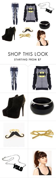 """""""batman"""" by kk-w14a ❤ liked on Polyvore featuring Mi Lajki, Kate Spade and ASOS"""