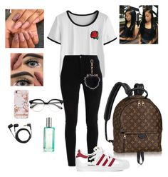"""""""Gucci💖"""" by queen-babymomma ❤ liked on Polyvore featuring adidas, Sennheiser, LC Lauren Conrad and CLEAN"""