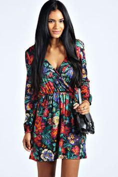 Sammi Floral Print Wrap Dress