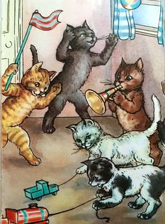 Macgregor, from Five Little Kittens, Ladybird, Images Vintage, Vintage Cat, Little Kittens, Cats And Kittens, Crazy Cat Lady, Crazy Cats, Ladybird Books, Owning A Cat, Curious Cat