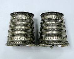 ethnic antique tribal old silver cuff bangle by TRIBALEXPORT, $1299.00