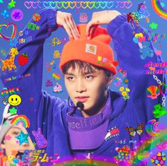 Rainbow Aesthetic, Kpop Aesthetic, Nct 127, Nct Taeil, Header, Cybergoth, Photo Wall Collage, Cute Icons, K Idols