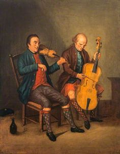 1780's -the fiddler Niel Gow, painted by ...?