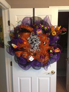 Halloween 2013 geo mesh wreath