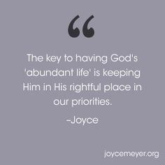 Putting God First in Your Priorities