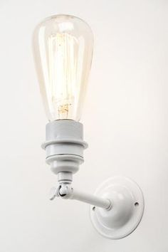 Industrial wall light - white   £75.00