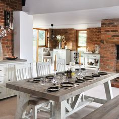 Dorset Purbeck Reclaimed Wood Furniture - Modish Living Nordic Look Reclaimed Wood Dining Table Reclaimed Wood Dining Table, Trestle Dining Tables, Reclaimed Wood Furniture, Extendable Dining Table, Dining Bench, Dining Chairs, Small Sideboard, Wood Sideboard, White Painted Furniture