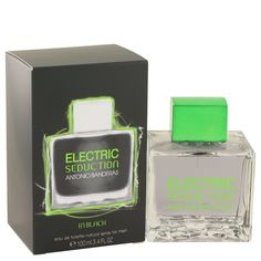Antonio Banderas Electric Seduction Black Cologne 100ml EDT Men | The modern men cologne introduced by actor antonio banderas in 2013. Perfect for a night out on the town, this woody aromatic fragrance is mysteriously enticing, with citrusy top notes and a spicy middle. Patchouli and musk base notes ensure the scent lingers on your skin for hours. Show your sensual side with this special fragrance that enhances your masculine allure.