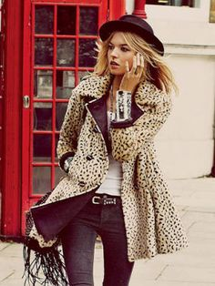 No outfit is complete without a touch of animal print—plus, we love it because it feels very Kate Moss. Free People Leopard Swing Coat, $248, freepeople.com