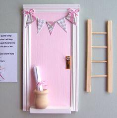 Fairy Door, Tooth Fairy Door, Fairy Door Kit, Baby Shower Gift, Learning toy by ParkerJshop on Etsy https://www.etsy.com/listing/237197756/fairy-door-tooth-fairy-door-fairy-door