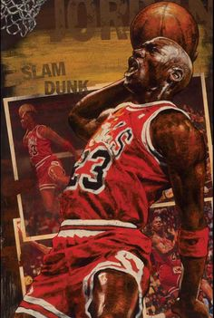Michael (air) Jordan of the Chicago Bulls painted and limieted editon by sprots aritst Stephen Holland Michael Jordan Slam Dunk, Michael Jordan Art, Michael Jordan Pictures, Michael Jordan Basketball, Jordan Photos, Michael Jackson, Basketball Art, Basketball Legends, Basketball Players